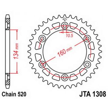 Звезда задняя легкосплавная JT Sprockets JTA1308.43