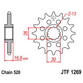 Звезда передняя JT Sprockets JTF1269.16
