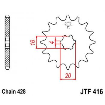 Звезда передняя JT Sprockets JTF416.13
