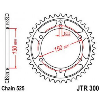 Звезда задняя JT Sprockets JTR300.46