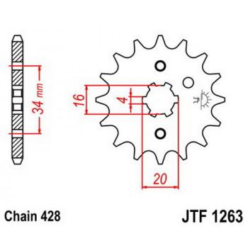 Звезда передняя JT Sprockets JTF1263.12