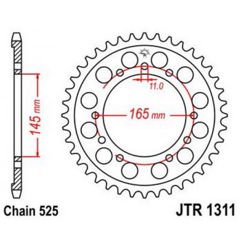 Звезда задняя JT Sprockets JTR1311.44