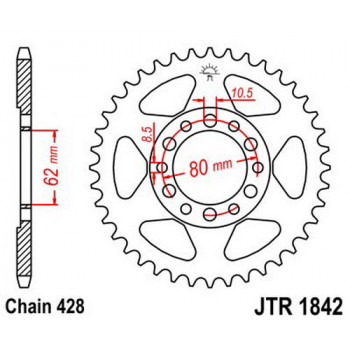 Звезда задняя JT Sprockets JTR1842.45