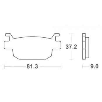 Тормозные колодки Lucas MCB806SRM