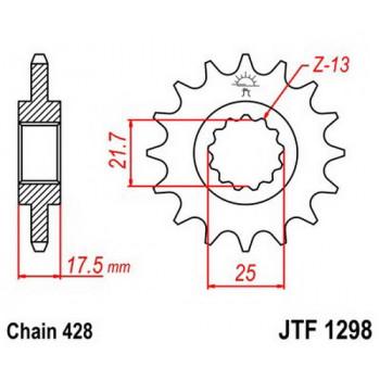 Звезда передняя JT Sprockets JTF1298.17