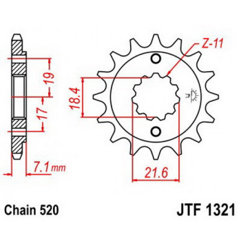 Звезда передняя JT Sprockets JTF1321.14