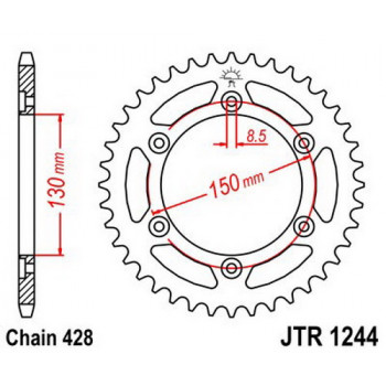 Звезда задняя JT Sprockets JTR1244.52