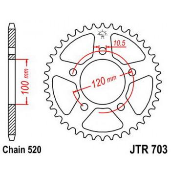 Звезда задняя JT Sprockets JTR703.44