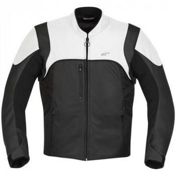 Мотокуртка кожано-текстильная Alpinestars Helius Black-White 2XL