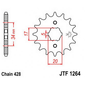 Звезда передняя JT Sprockets JTF1264.14