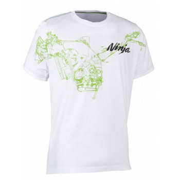 Футболка Kawasaki Greenprint White S