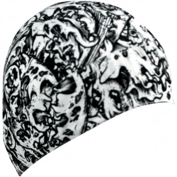 Флайдана Zan Headgear Ornate Pattern Black-White