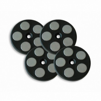 Комплект магнитов для текстильных сумок Givi T4KIT Black-Grey