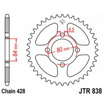Звезда задняя JT Sprockets JTR838.49