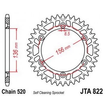 Звезда задняя легкосплавная JT Sprockets JTA822.53