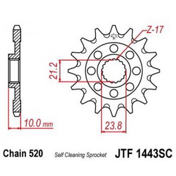 Звезда передняя JT Sprockets JTF1443.14SC