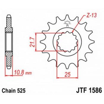 Звезда передняя JT Sprockets JTF1586.17