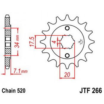 Звезда передняя JT Sprockets JTF266.13