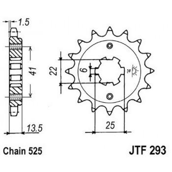 Звезда передняя JT Sprockets JTF293.15