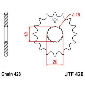 Звезда передняя JT Sprockets JTF426.16