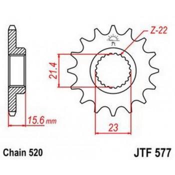 Звезда передняя JT Sprockets JTF577.14