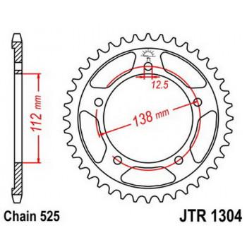 Звезда задняя JT Sprockets JTR1304.38