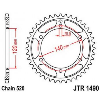 Звезда задняя JT Sprockets JTR1490.37