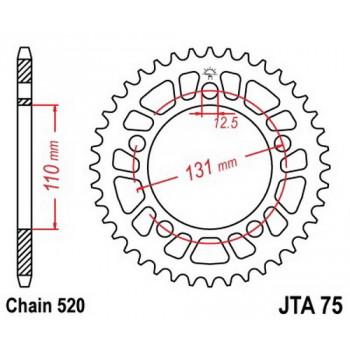 Звезда задняя легкосплавная JT Sprockets JTA75.46