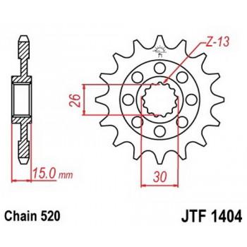 Звезда передняя JT Sprockets JTF1404.17