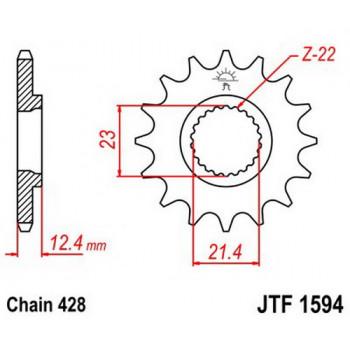 Звезда передняя JT Sprockets JTF1594.15