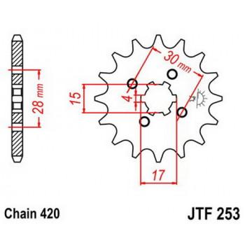 Звезда передняя JT Sprockets JTF253.15