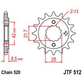 Звезда передняя JT Sprockets JTF512.17