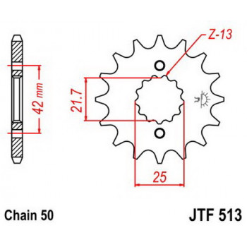 Звезда передняя JT Sprockets JTF513.17
