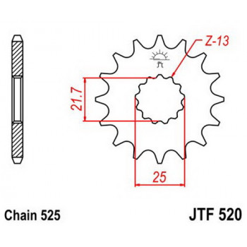 Звезда передняя JT Sprockets JTF520.17