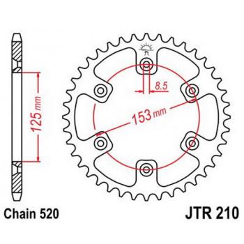 Звезда задняя JT Sprockets JTR210.47
