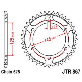 Звезда задняя JT Sprockets JTR867.43