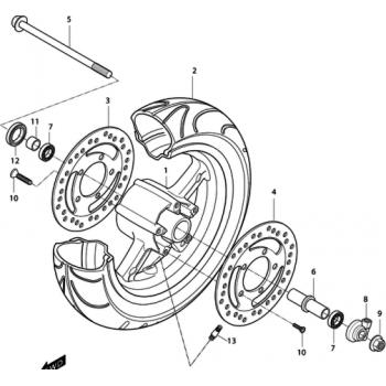 Тормозной диск Hyosung MS3-250 передний левый