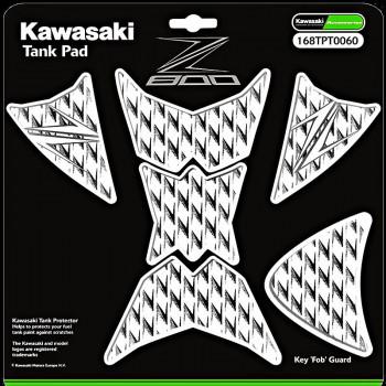 Наклейка на бак Kawasaki Z800 White