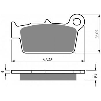 Тормозные колодки Kawasaki KLX250S 09-14/ KLX250SF 09-10 задние