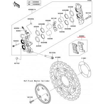 Тормозные колодки Kawasaki Z1000 10-13/ ZX-10R 11-13 передние
