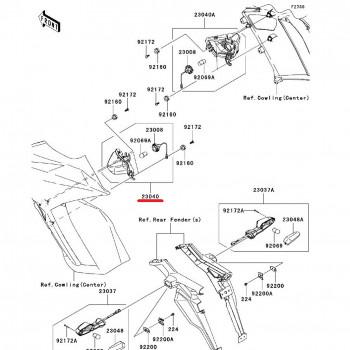 Указатель поворота Kawasaki ZX-10R 11-15 передний левый