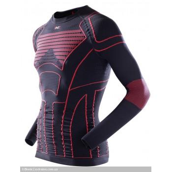 Термофутболка X-Bionic Motorcycling Man Shirt Long Black-Red 2XL