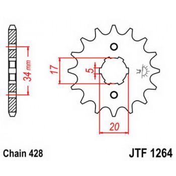 Звезда передняя JT Sprockets JTF1264.16