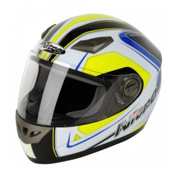 Мотошлем Nitro Vertice Black-White-Yellow-Blue M