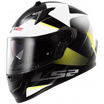 Мотошлем LS2 FF322 Tyrell Black Hi-Vis Yellow S