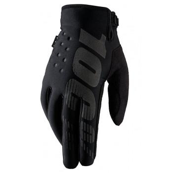Мотоперчатки 100% Brisker Cold Weather Black L