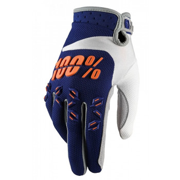 Мотоперчатки детские 100% Armatic Youth Blue-Orange M