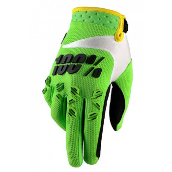 Мотоперчатки детские 100% Armatic Youth Lime Green S/M