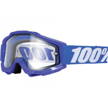 Мотоочки 100% Accuri Enduro Reflex Blue - Clear Dual Lens