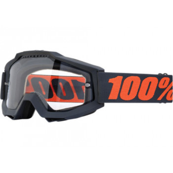 Мотоочки 100% Accuri Enduro Gunmetal - Clear Dual Lens